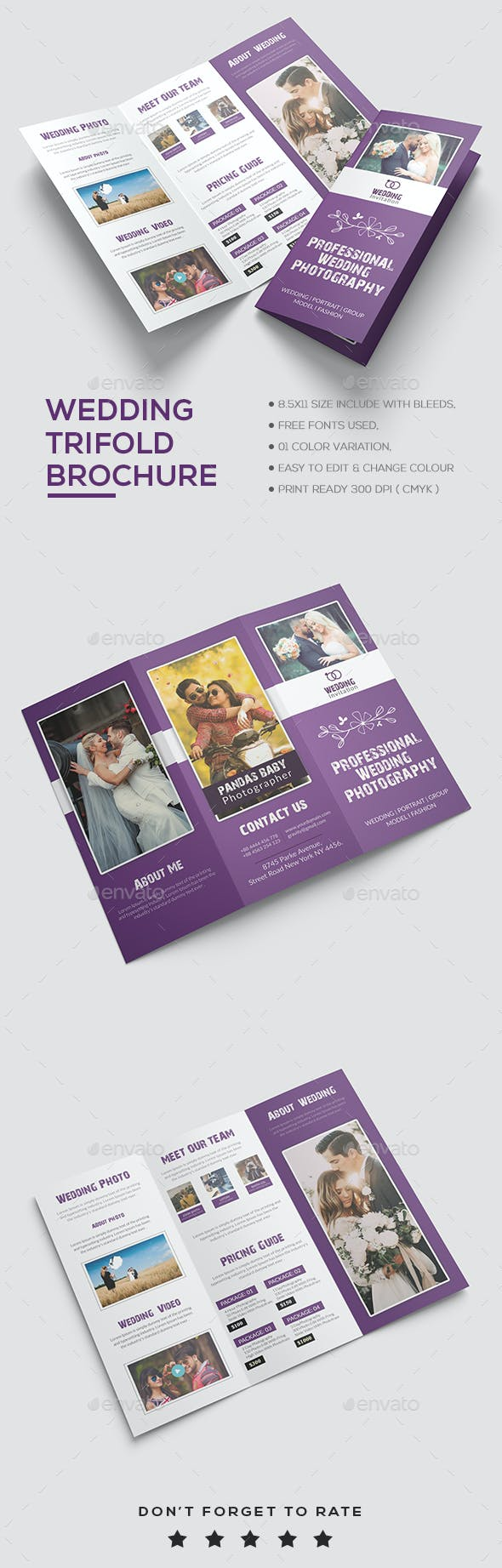 wedding brochure template by designhaunt graphicriver