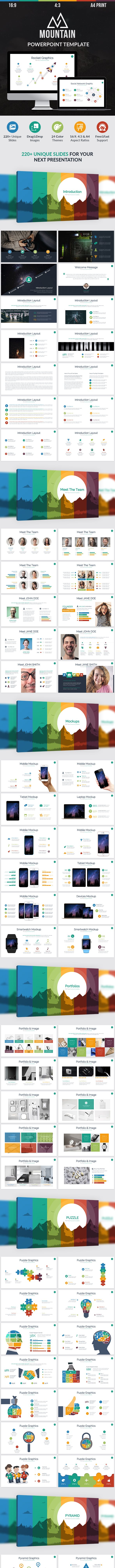mountain perfect powerpoint template by ocvembor graphicriver