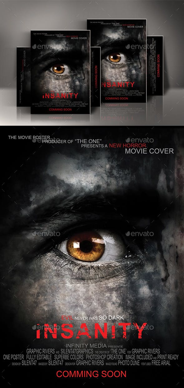 horror movie poster template by silentgraphics graphicriver