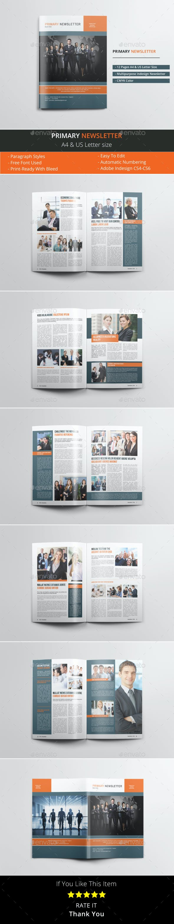 primary newsletter by le parte graphicriver