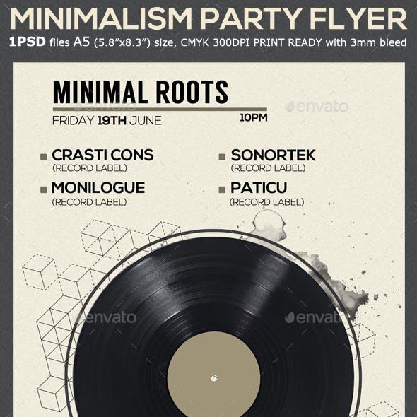 Minimal Vinyl Party Flyer Template