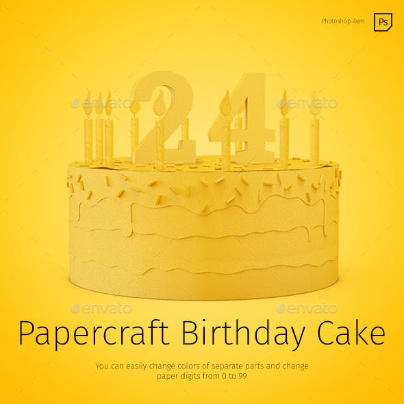 Papercraft Birthday Cake By TIT0