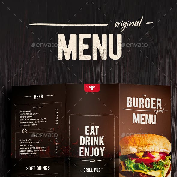 burger menu trifold by dusskdesign graphicriver
