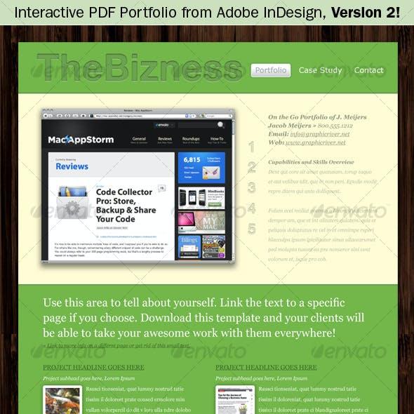 Interactive Pdf Portfolio From Adobe Indesign V2
