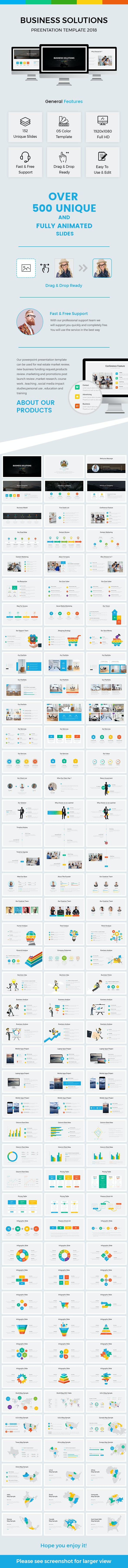 business solutions powerpoint template 2018 by light slides