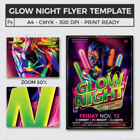 glowy stationery and design template from graphicriver