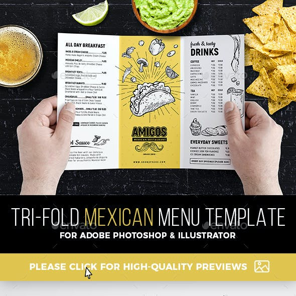 Tri Fold Menu Graphics Designs Templates From Graphicriver