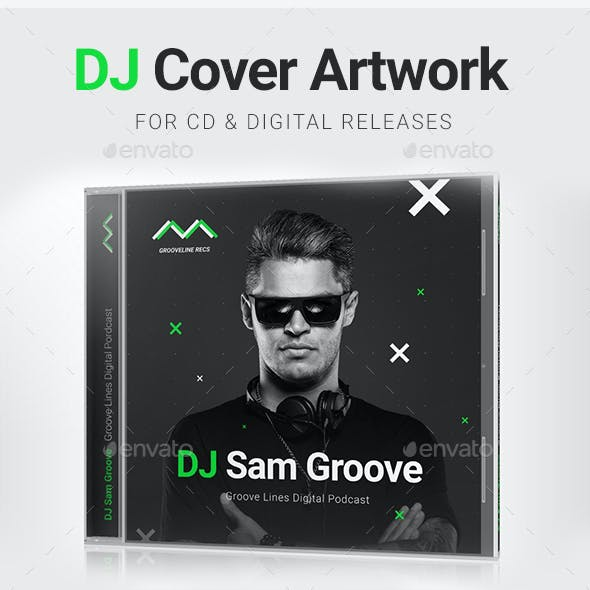Music label graphics designs templates from graphicriver grooveline dj mix album cd cover artwork psd template maxwellsz