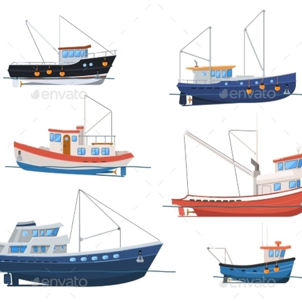 fishing boat graphics designs templates from graphicriver. Black Bedroom Furniture Sets. Home Design Ideas