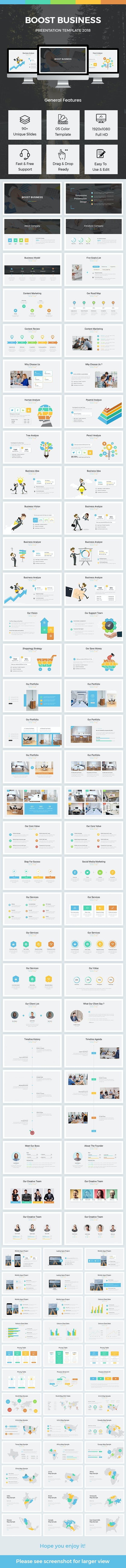 boost business powerpoint template 2018 by light slides graphicriver