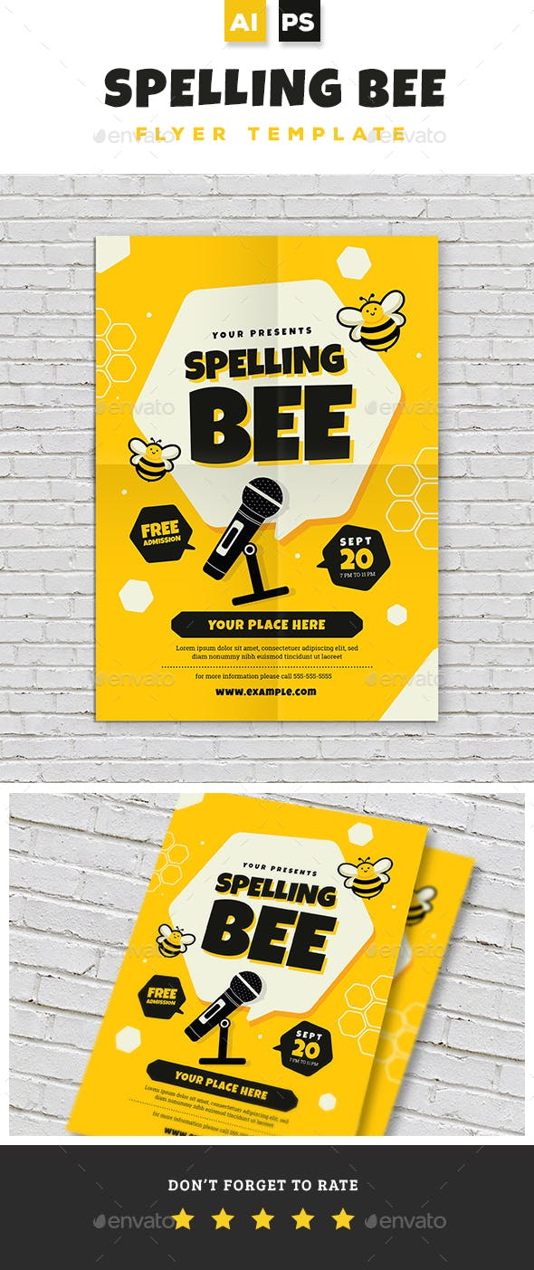 spelling bee invitation template.html