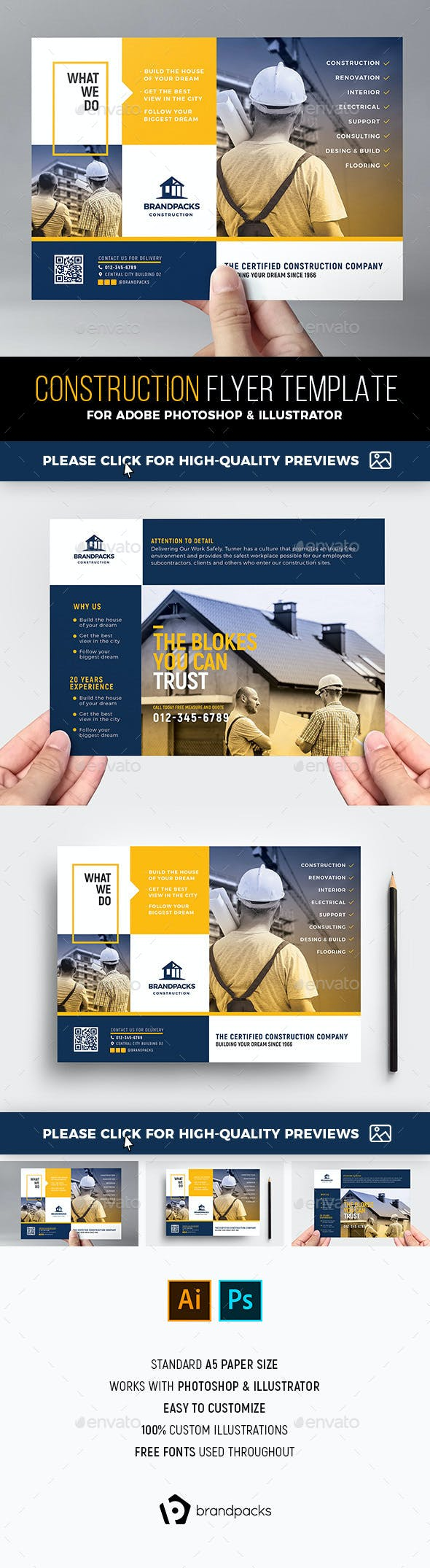construction flyer template by brandpacks graphicriver