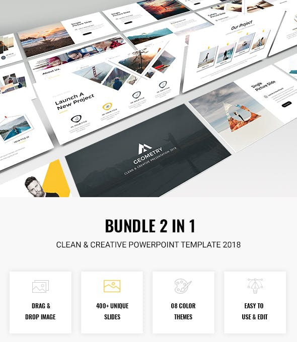 Bundle 2 In 1 Clean Creative Powerpoint Template 2018 By