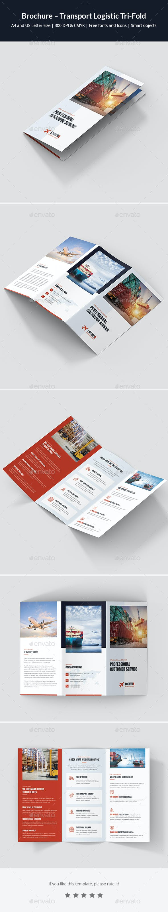 brochure transport logistic tri fold by artbart graphicriver