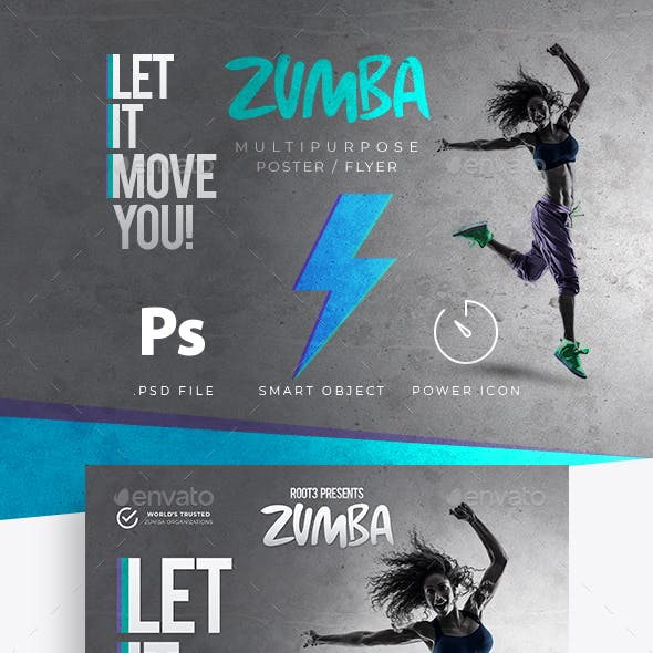 Zumba flyer graphics designs templates from graphicriver zumba fitness flyer poster toneelgroepblik Gallery