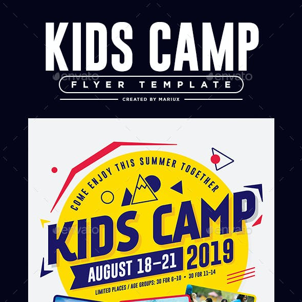 Poster business card templates designs from graphicriver kids camp flyerposter reheart Gallery