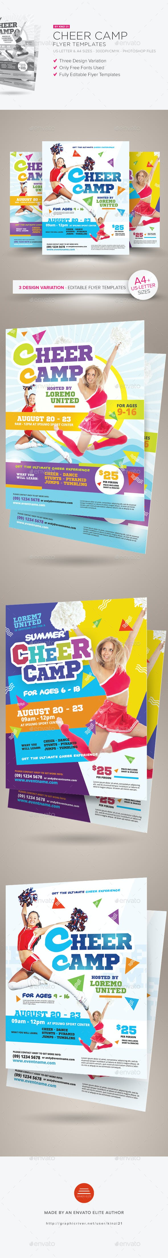 cheer camp flyer templates by kinzi21 graphicriver