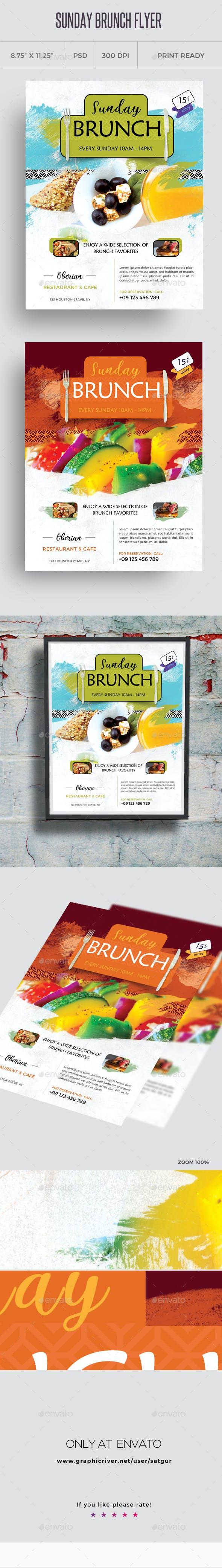 sunday brunch flyer template by satgur graphicriver