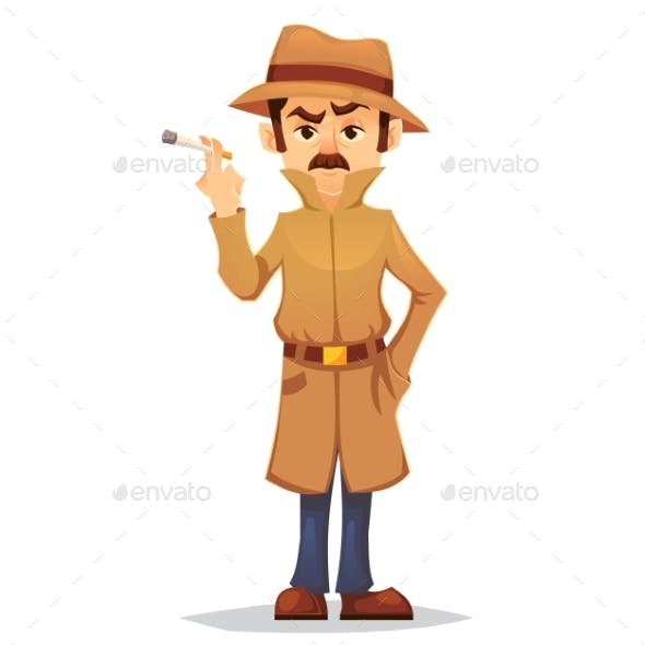 detective character design by polly grimm graphicriver