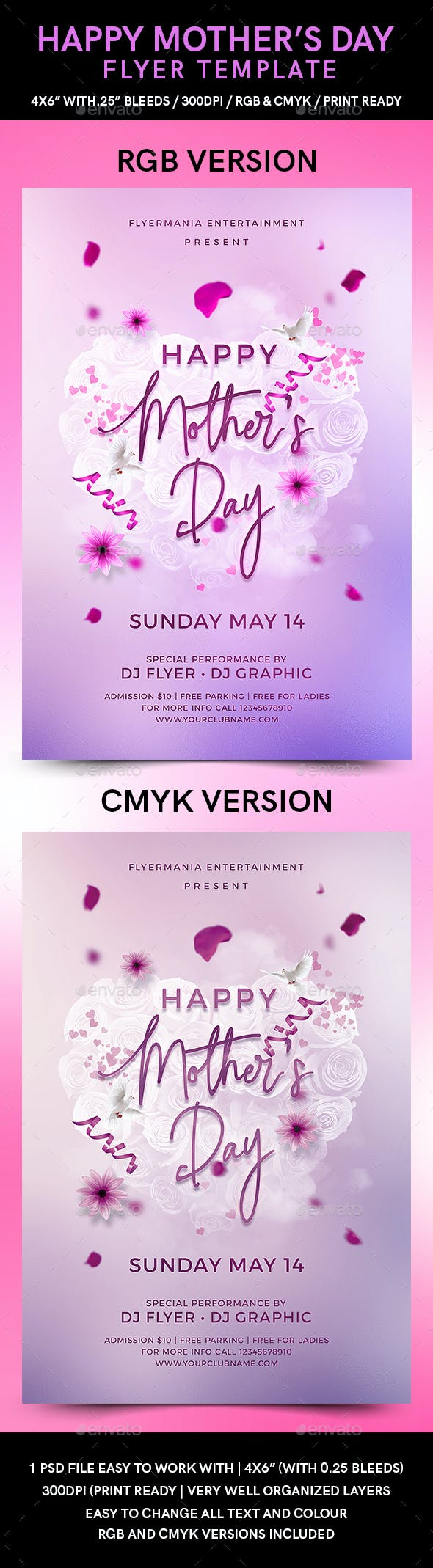 happy mother s day flyer template by flyermania graphicriver