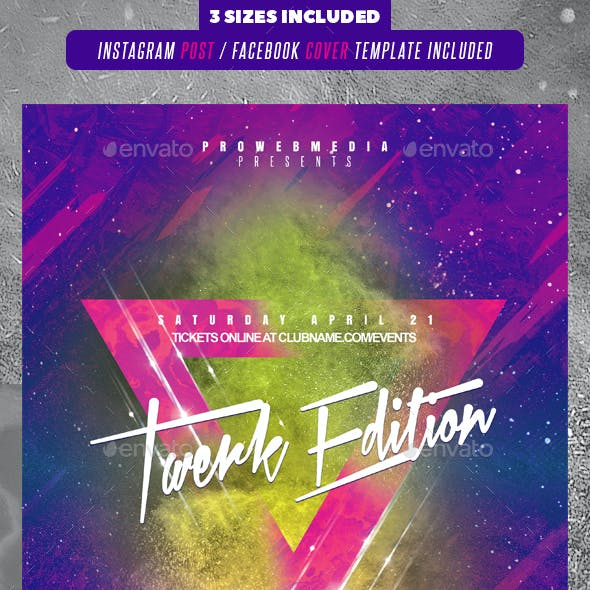 modern party flyer graphics designs templates