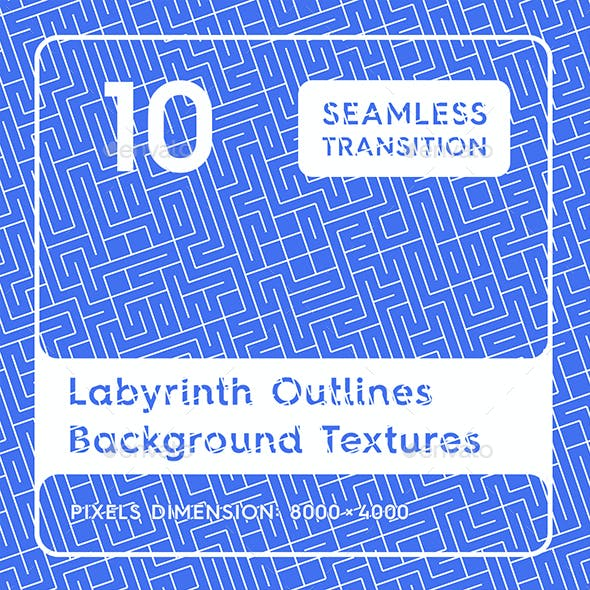 10 Labyrinth Outlines Backgrounds by webcombo   GraphicRiver