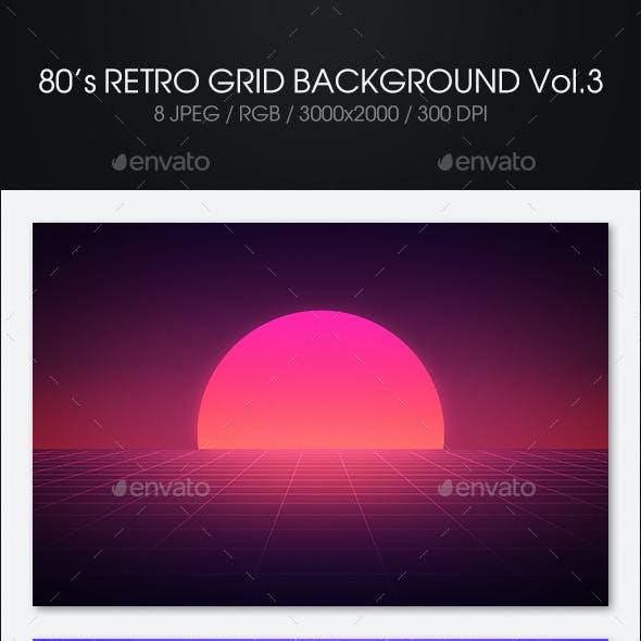 80s Retro Grid Background Vol3