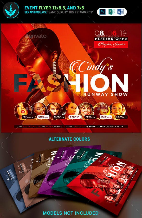 fashion conference flyer template 3 by seraphimblack graphicriver