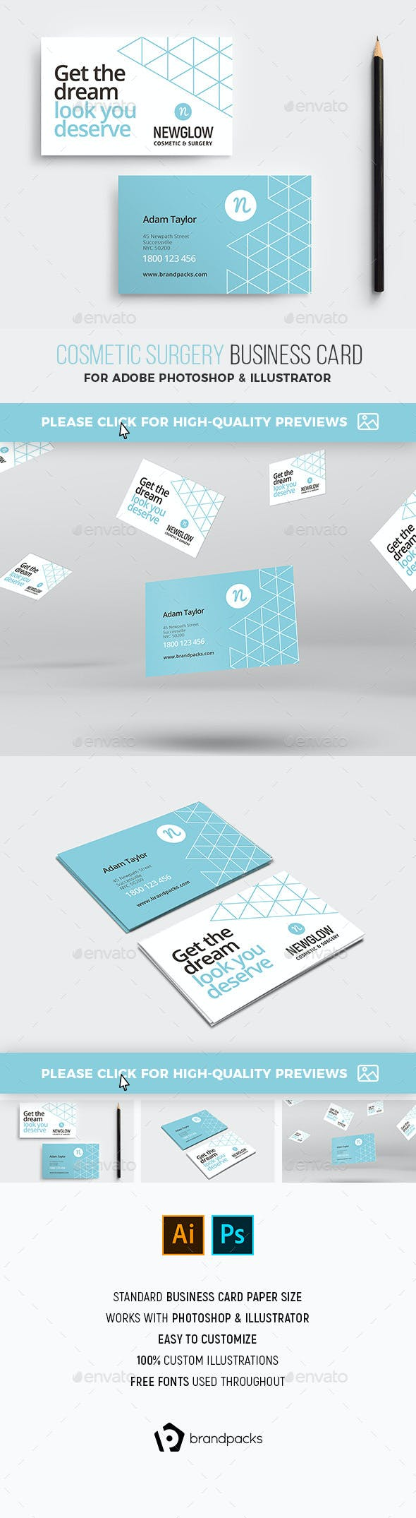 Cosmetic Business Card Template By Brandpacks Graphicriver