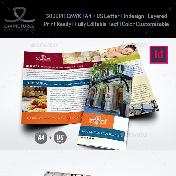 hotel and motel tri fold brochure template vol2 - Hotel Brochure Design Templates