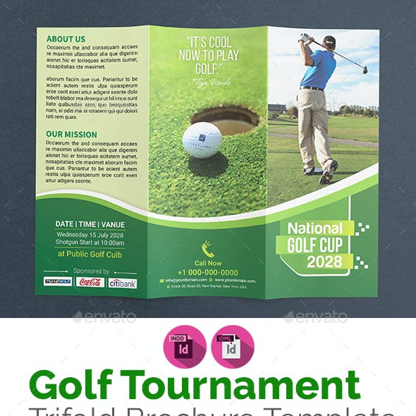 Golf Brochure Template Graphics Designs Templates