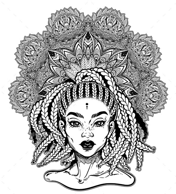 tribal fusion afterican or african american diva by itskatjas
