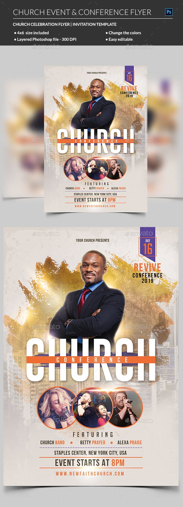 church event or conference flyer template by madridnyc graphicriver