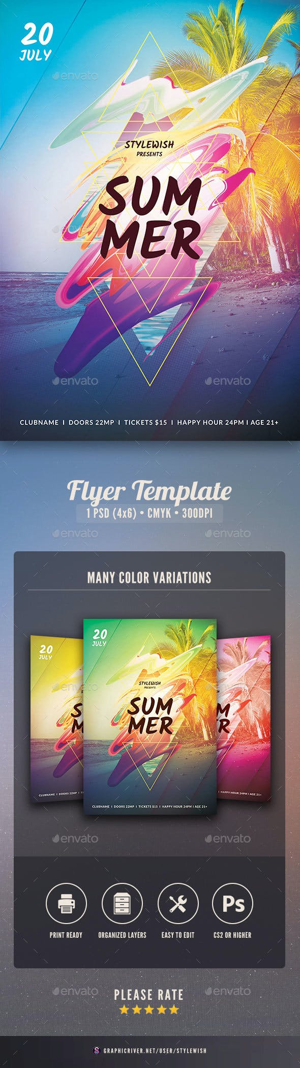 summer flyer by stylewish graphicriver