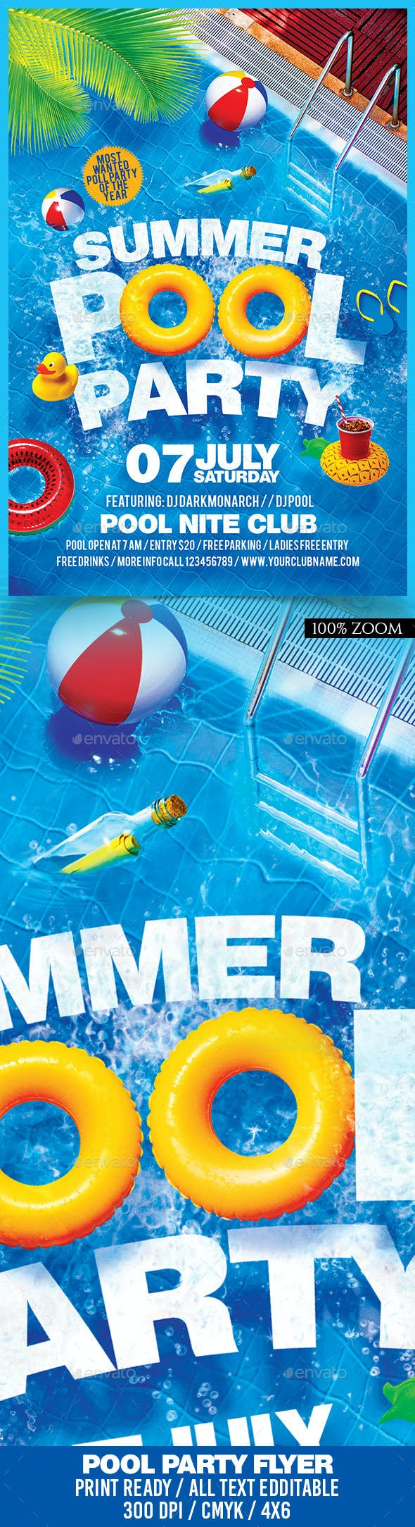 summer pool party flyer by darkmonarch graphicriver