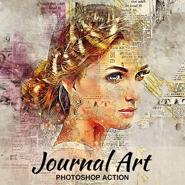 Journal Art Photoshop Action