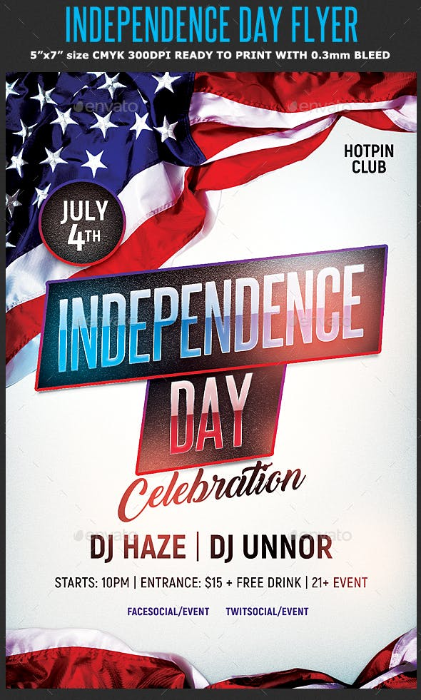 independence day flyer template events flyers