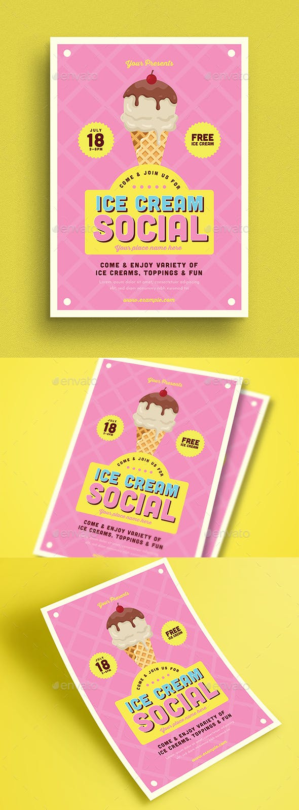 ice cream social flyer by guuver graphicriver