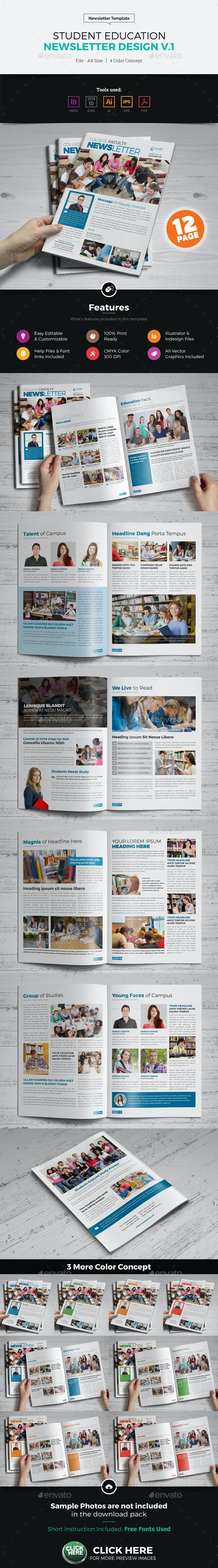 student education newsletter design by jbn comilla graphicriver