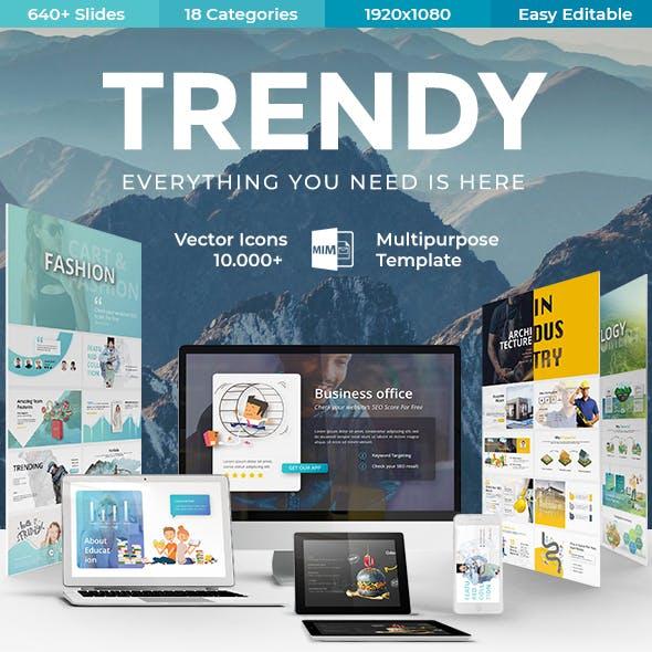 trendy multipurpose powerpoint template by este studio graphicriver