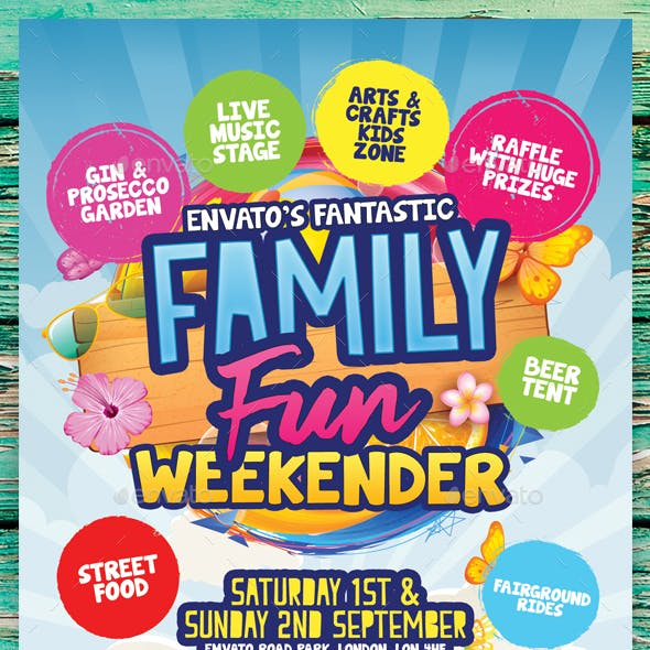family fun day graphics designs templates from graphicriver
