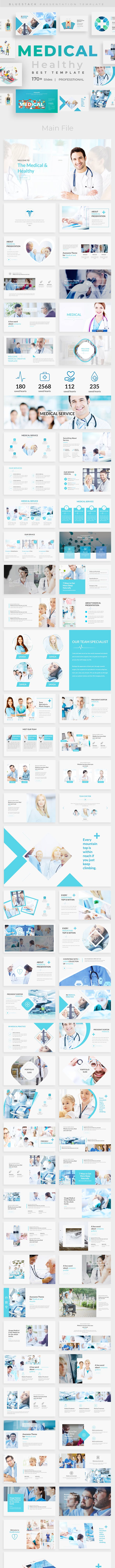 medical health care powerpoint template by bluestack graphicriver