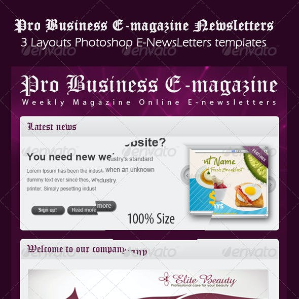 e newsletter templates from graphicriver page 34