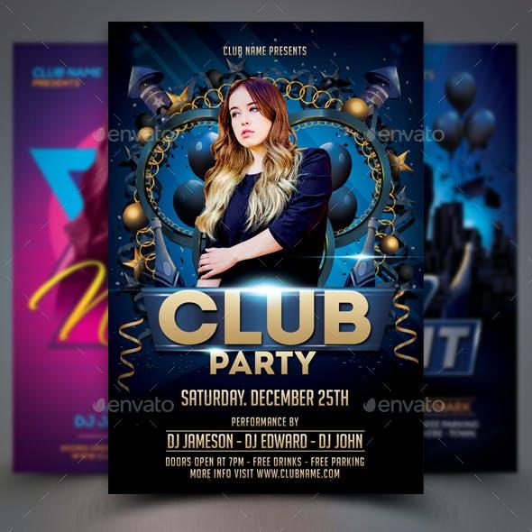 Club flyer template graphics designs templates club flyer bundle maxwellsz