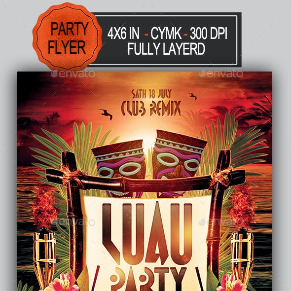 luau flyer club party flyer templates from graphicriver