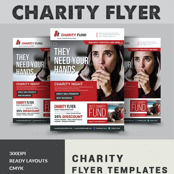 charity flyer graphics designs templates from graphicriver