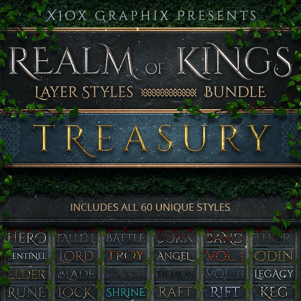 Realm of Kings Layer Styles - BUNDLE