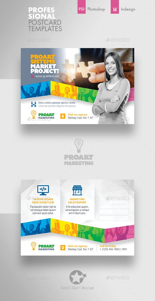 Marketing Postcard Templates By Grafilker Graphicriver
