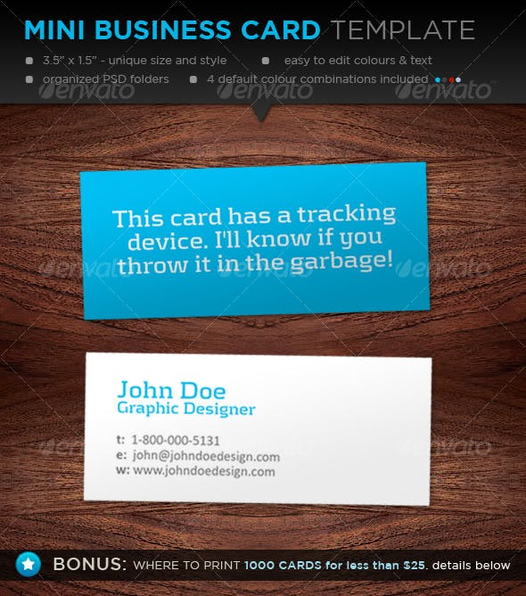 Mini Business Card Template Designers By Davidfromafrica