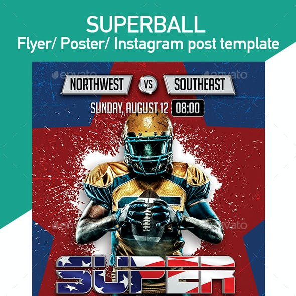 Super Ball Flyer Template With 3 Diffe Size Templates